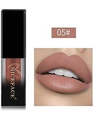 Huihong NICEFACE 18 Schattierungen matte Lippen Dessous flüssige Lippenstift, langlebig und wasserdicht. (Sexy 05)