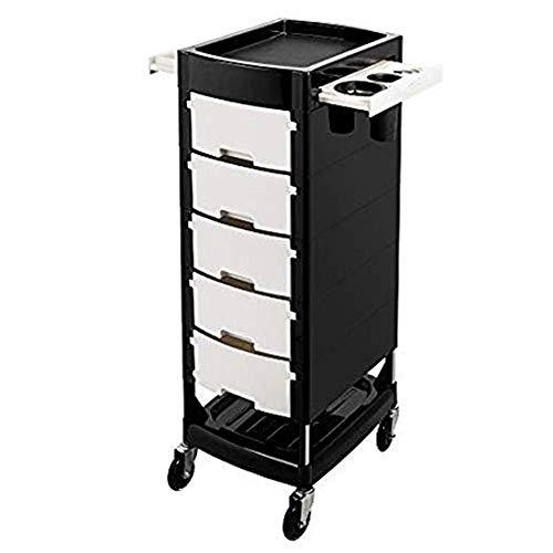 GYJ Beauty Salon Trolley Rollwagen mit 5 Schubladen, Werkzeugablage, Stabiler und langlebiger Ausstattung, die perfekt zu Anderen Geräten passt