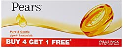 Pears Pure and Gentle,125g (Pack of 4) with Free Pears Pure and Gentle,125g