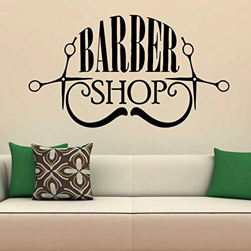 Barber Shop Stickers Muraux Coiffure Salon Chambres Décoration Étanche Mur Art Vinyle Peintures Murales Décor À La Maison 58cmx106cm L