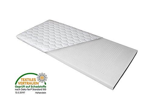 Luxus 7-Zonen Viscoschaum-Topper 180x200 cm mit Memoryschaum, Matratzenauflage mit Klimalochbohrungen und ergonomischen Liegezonen für höchsten Schlafkomfort von Betten Jumbo