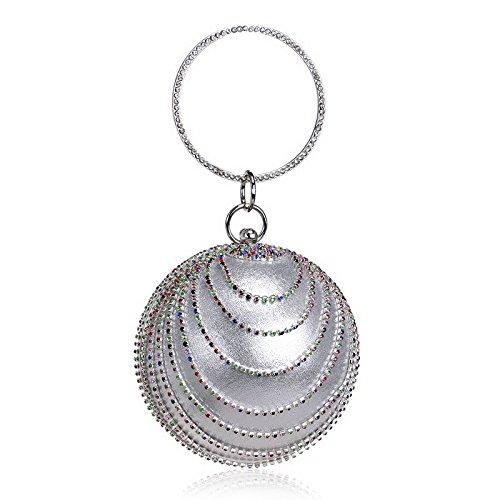 TOOKY, Poschette giorno donna Taglia unica Silver colorful