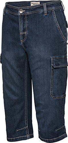 HENSON&HENSON Cargo-Capri-Jeans in Dunkel-Blau, 3/4 Hose für Herren, Stretch Jeans, Kurze Hose für den Sommer, Gr. 24 - 60 Stretch-capri-jeans