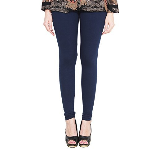 ALISHAH COTTON LYCRA CHURIDAR LEGGINGS FOR WOMENS AND GIRLS NAVY BLUE, Sizes :- XXL  available at amazon for Rs.274