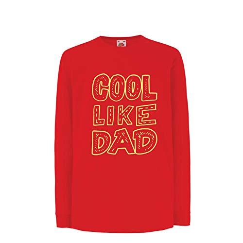 Rosso Giorno T PapàUmorismo 15 Years me Lepni Fantastico Shirt Bambiniragazze Multicolore Come Padre14 Y7bf6yg