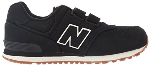 New Balance Unisex-Kinder 574 Sneakers Schwarz (Black)