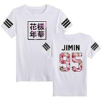 SERAPHY Unisexe KPOP BTS T-Shirt Bangtan Boys BTS Young Forever Bloom Floral Top Suga Jin Jimin Jung Kook J-Hope Rap-Monster V