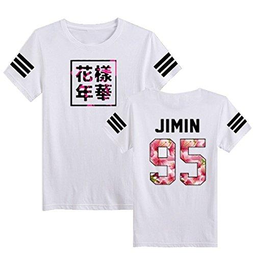 SERAPHY Unisex KPOP BTS Young Forever T-Shirt Bangtan Boys BTS Blühendes Blumenoberteil Suga Jin Jimin Jung Kook J-Hope Rap-Monster V Weiß-95j XL