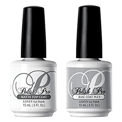 NSI Gel Polish MATTE TOP COAT & BASE COAT - 15ml - LED / UV Light Cured Gel Polish