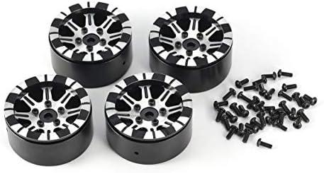 OlvidoF 4pcs 1.9inch Aluminium Jante Jante Jante de Roue en métal pour moyeu de Roue pour 1/10 Axial SCX10 4WD Traxxas TRX-4 D90 RC Rock Crawler   Outlet Store  42cd0c