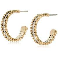 TOMMY HILFIGER WOMEN'S IONIC PLATED CARNATION GOLD STEEL EARRINGS -2780137