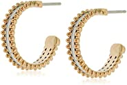 TOMMY HILFIGER WOMEN'S IONIC PLATED CARNATION GOLD STEEL EARRINGS -278