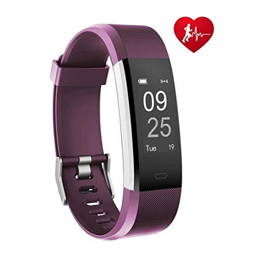 Fitness Armband Uhr, TOOBUR Fitness Tracker Armbanduhr mit Schrittzähler Herzfrequenz Schlafmonitor und Kalorienzähler, IP67 Wasserdicht Aktivitätstracker Smart Watch für Damen Frauen, Smartwatch Anruf SMS Whatsapp Vibrationsalarm Beachten Kompatibel mit iOS Android Handy