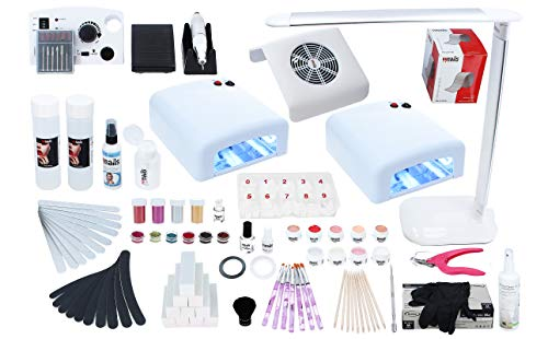 99nails Nagelstudio Set Starterset 22-teilig Made in Germany Kosmetika Premium Qualität UV Lampe