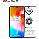 Cedo 5D Edge To Edge 9H Tempered Glass Screen Protector For One Plus 6T (Black)