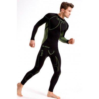 Viking Nevil Set Maglia Tecnica da uomo traspirante biancheria intima da sci + pantaloncini, nero/grigio, L