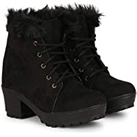 RINDAS Women's   Ladies   Females   Girls Comfortable, Fashionable, Synthetic Leather, Shoes College Wear   Casual Boots