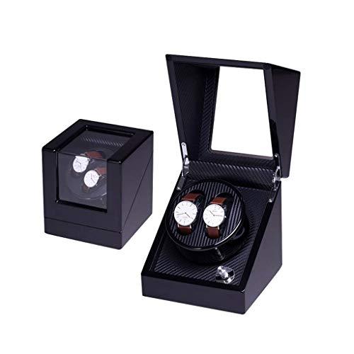 Uhren Lagerung Display Box, automatische Uhrenbeweger Box, Carbon-Faser-Piano-Finish, C (2 + 0) -