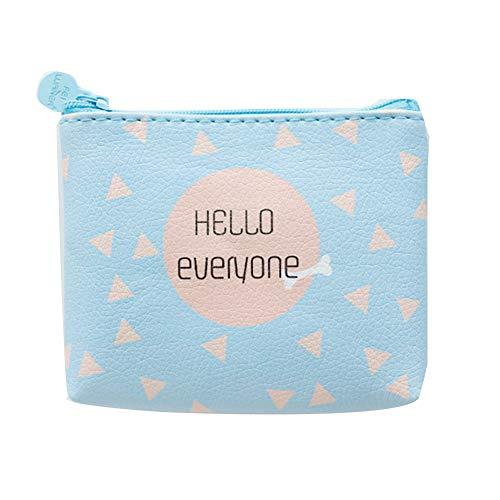 örse Brieftasche, Cartoon Geometrische Katze Animal Print Mädchen Mini Reißverschluss-Etui Bargeld, Leben im Freien lebensnotwendig, tägliche Aufbewahrungstasche 1# ()