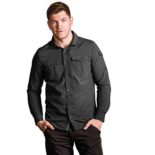 Craghoppers Herren CR165Nosilife Adventure langärmelige Shirt Poivre noir