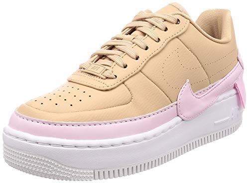Nike W Af1 Jester XX, Scarpe da Basket Donna, Multicolore (Bio Beige/Pink Force/White 202), 37.5 EU