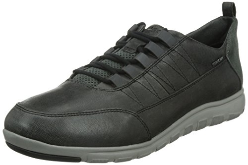 Geox u xunday 2fit c scarpe low-top, uomo, nero (black/grey), 43