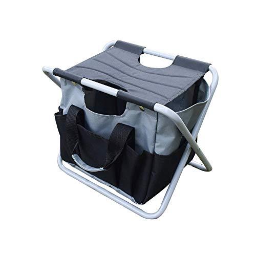 Liberty Outdoor Klapphocker Mit Werkzeugtasche Multifunktionale Tragbare Camping Klapphocker Gartenwerkzeug Stuhl Für Camping Angeln Picknick Garten BBQ -