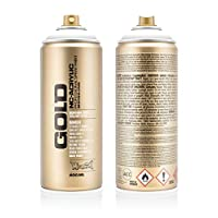 Montana Cans 285790 Spray Gold 400ml GLD400, S9100, Shock White