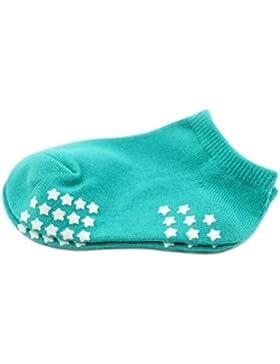 8 pares de calcetines antideslizantes del bebé recién nacido Medias calientes del regalo del bebé 9-12 CM para...