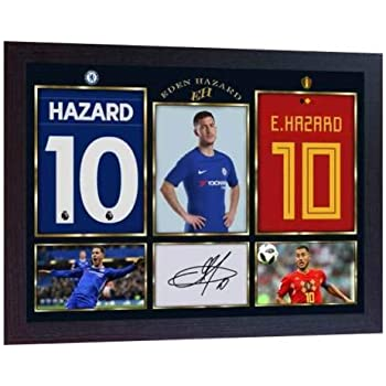 fd69fe5aa0c SGH SERVICES New Framed Eden Hazard signed autograph photo pre-print poster  Football Chelsea signed autograph Framed MDF frame #3