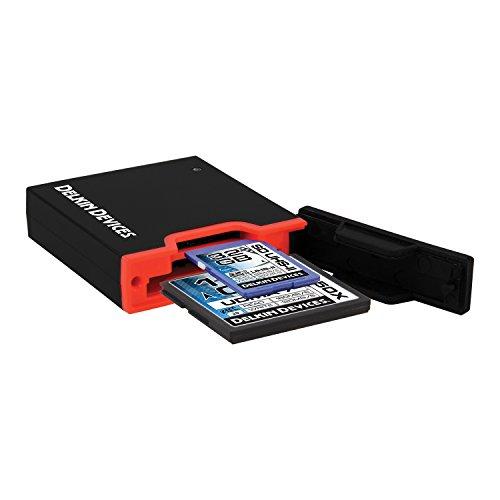 Slot SD uhs-ii und CF Memory Card Reader–Schwarz (Dual-cf-card-reader)