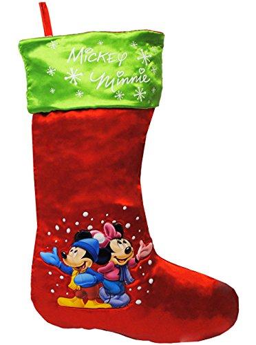 alles-meine.de GmbH 1 Stück _ XL Filzstrumpf & Weihnachtssocke -  Disney - Mickey & Minnie Mouse ..