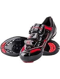 RONDA Zapatillas de Ciclismo Carretera, Impermeables para Hombres, Sudor Absorbente, Ligero, Transpirable, Resistente, Antideslizante, Bicicletas de Cierre automático