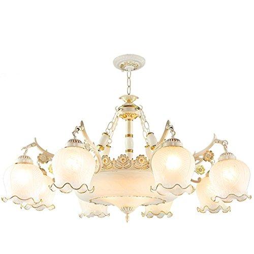 Europäische Kunst Kronleuchter Wohnzimmer Gläserne Decke Droplight Schlafzimmer Deckenleuchte Weiß Sweep Gold 8 Kopf Pendelleuchte (Licht 8 Kronleuchter Gold)