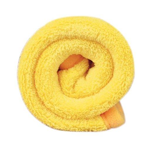 Transer® Mascotas Suave Mets para perros/gatos mantas para cama de mascotas Cachorro almohadillas de alfombra de la perrera Alfombras, acrílico, Amarillo, large