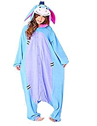 Samgu-bourriquet animal Pyjama Cospaly Party Fleece Costume Deguisement Adulte Unisexe