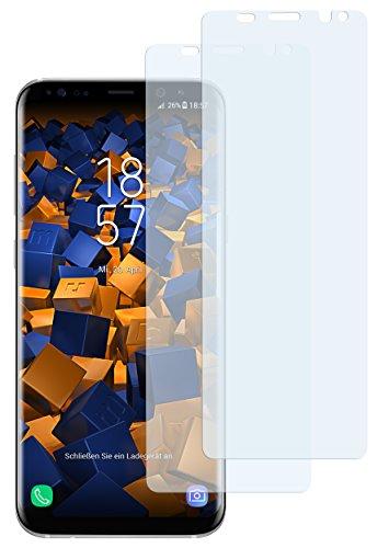 mumbi 2 x Displayschutzfolie für Samsung Galaxy S8 Folie Schutzfolie (bewusst Kleiner als das Display, da Dieses gewölbt ist)