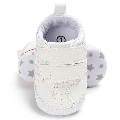 hibote Scarpe da ginnastica antisdrucciolevole del sole del Solf del neonato dei neonati dei neonati delle ragazze delle ragazze delle ragazze di prewalker White 0-6M argento