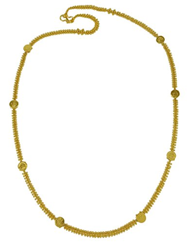 Matra 18K Vergoldet Traditionellen Bollywood Designer Ginni Münze Link Kette Schmuck (Gold Indischen Münzen-satz)