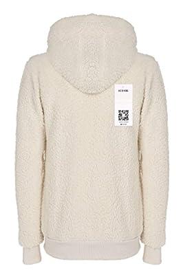 ACEVOG Ladies Womens Soft Teddy Fleece Hooded Jumper Hoody Jacket Coat 5 Colors