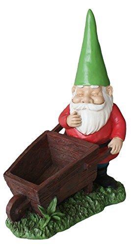 TIAAN 28cm Höhe Garten Gnome Statuen Blumentopf Gnome Skulptur Pflanzer Gnome ()