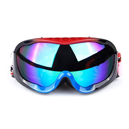 Radbrille Transparent Full Frame Skibrille Doppel Anti Fog Große Kugelförmige Männer Und Frauen Skibrille Ausrüstung Kann Myopia Augen Sein Black&Blue+Blue Lenses Damen Herren
