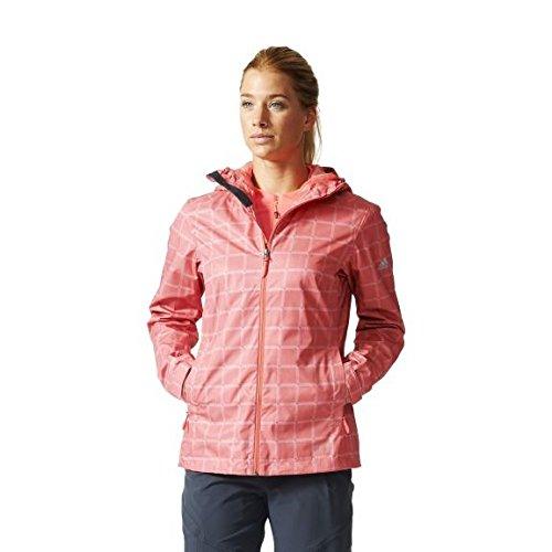 adidas Damen Outdoor W Wandertag AOP Jacket Jacke, rosa, 42 (Aop Adidas Jacke)