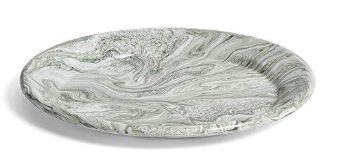 Bonsai-Coque avec sous assiette Taille 3-Vert-ovale-Modèle o47