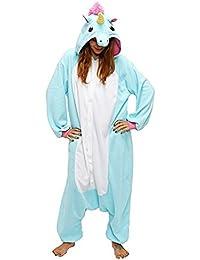 Ghope Animal style kigurumi Licorne Pyjama Adulte Anime pyjamas tenue Onesie Cospaly Fête Flannels Costume Animaux Anime Halloween Onesie