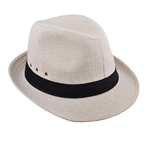 Einskey cappello panama uomo donna pieghevole fedora panama cappelli per festa, matrimonio, spiaggia, halloween(58 & 60cm)
