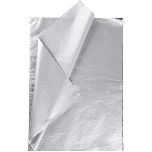 Seidenpapier, Blatt 50x70 cm, 14 g, silber, 25Blatt