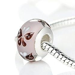 Carina Butterfly Murano Glass Charms Beads Fit Pandora Bracelet