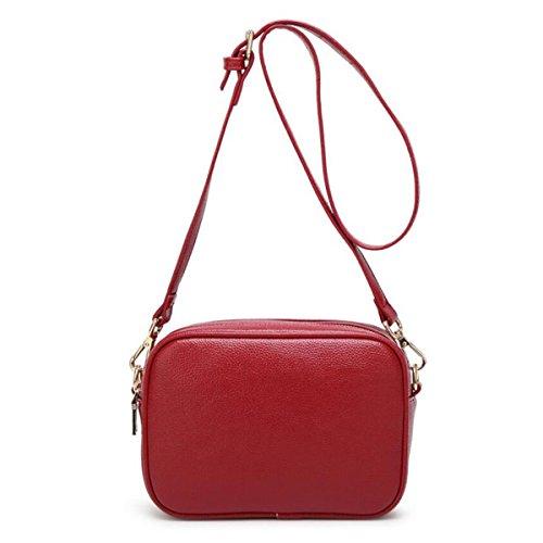 WU ZHI Ladies Autunno Inverno Piccolo Borsa Square Bag Wild Bag Borsa Borsa Red