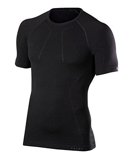 FALKE Herren Unterwäsche Wool Tech Longsleeve Shirt Comfort, Black, L